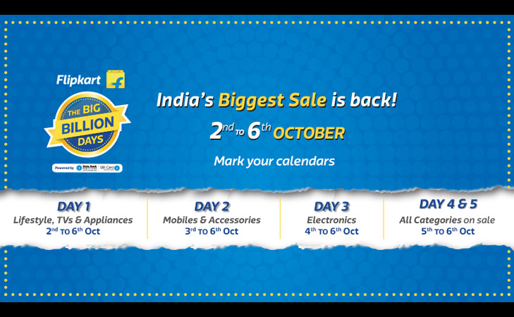 flipkart big billion day october 2016 schedule @TheRoyaleIndia