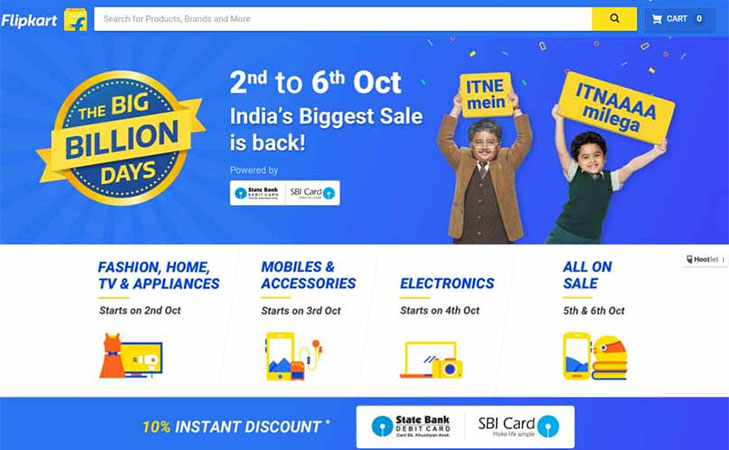 flipkart pre diwali sale big billion days @TheRoyaleIndia