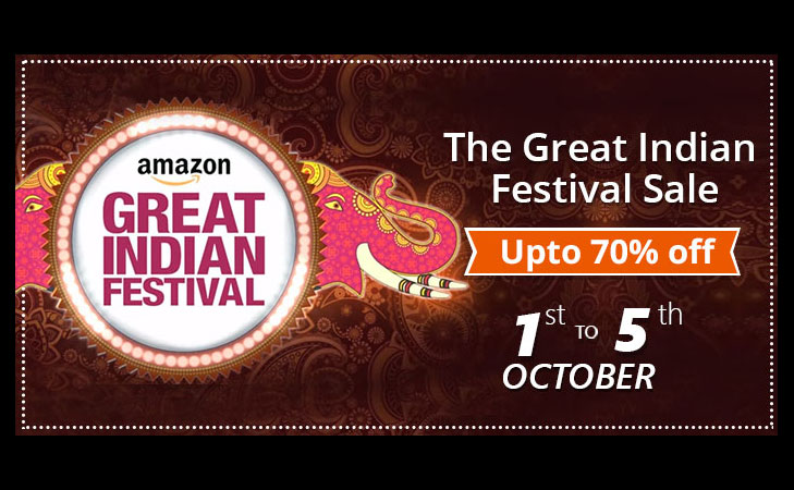 great indian festival sale amazon 1st to 5th oct @TheRoyaleIndia