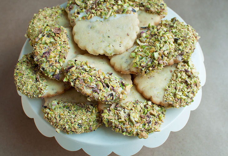 pistachio shortbread diwali recipe french @TheRoyaleIndia