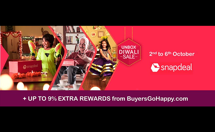 snapdeal unbox diwali sale 2nd to 6th oct @TheRoyaleIndia