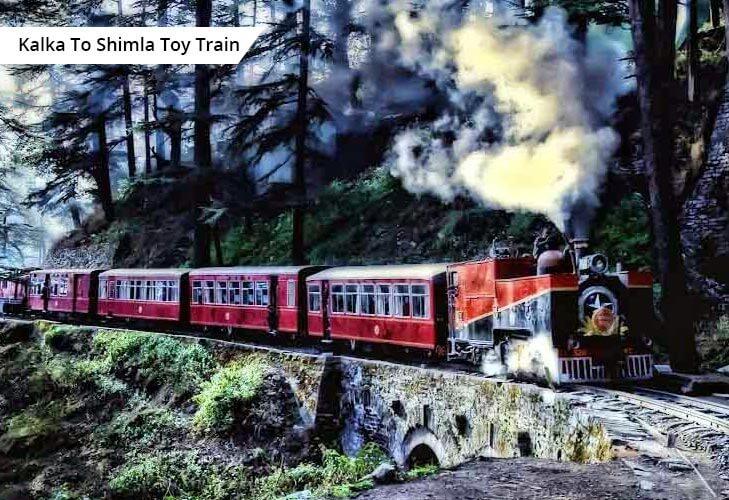 kalka shimla toy train best rail routes india @TheRoyaleIndia