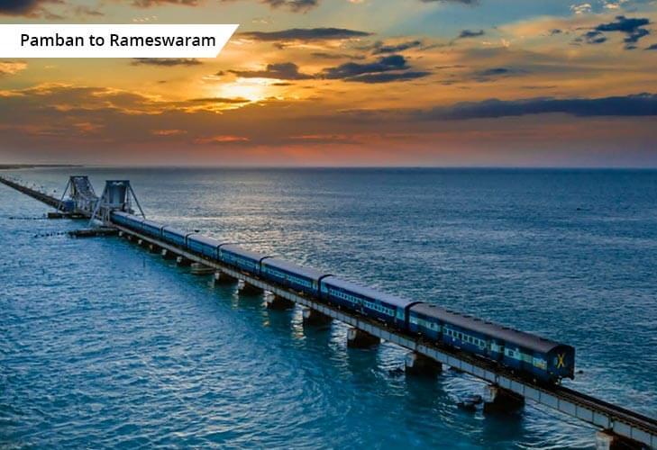 rameshwaram panbam bridge sea @TheRoyaleIndia