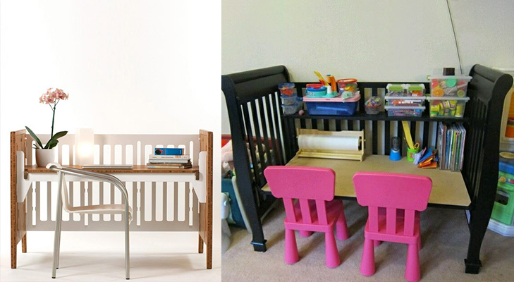 baby crib into kids table @TheRoyaleIndia