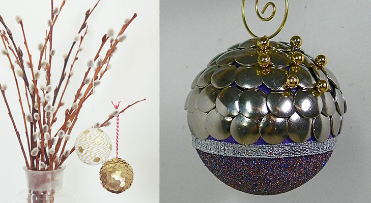 christmas decor ideas brass tack ornaments @TheRoyaleIndia