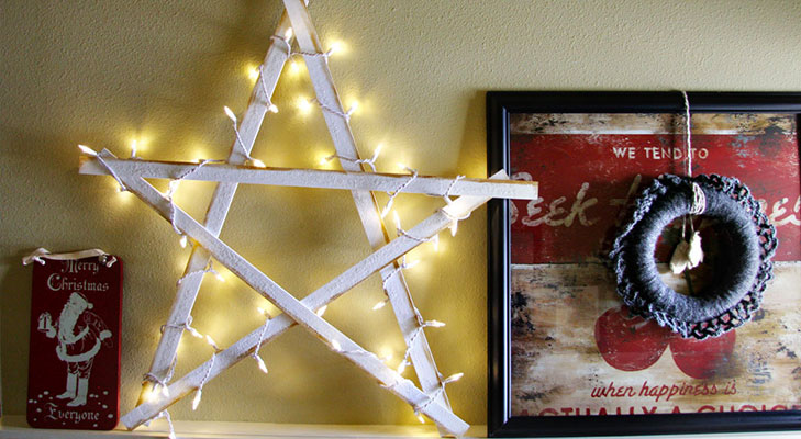 christmas decor ideas yardsticks outdoor star @TheRoyaleIndia