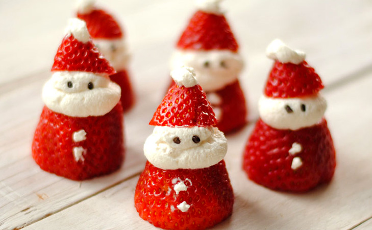 christmas healthy recipes santa strawberry @TheRoyaleIndia