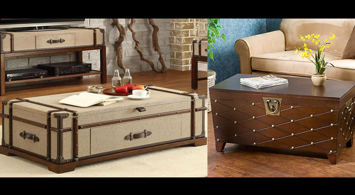 coffee table from vintage suitcase @TheRoyaleIndia