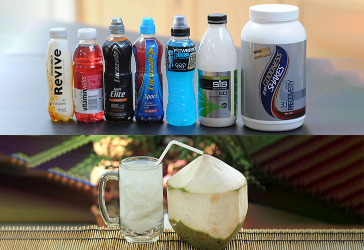 hangover remedies sports drinks coconut water @TheRoyaleIndia