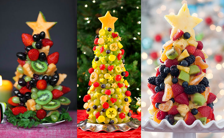 healthy christmas recipe edible fruit tree @TheRoyaleIndia