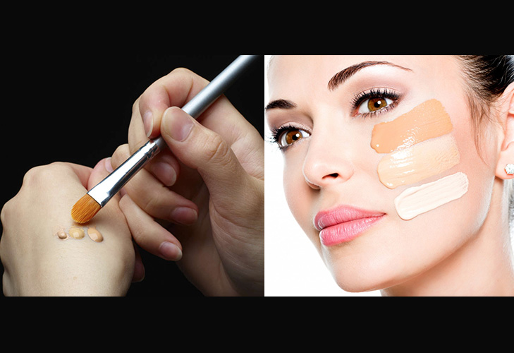 makeup mistakes testing foundation on hand @TheRoyaleIndia