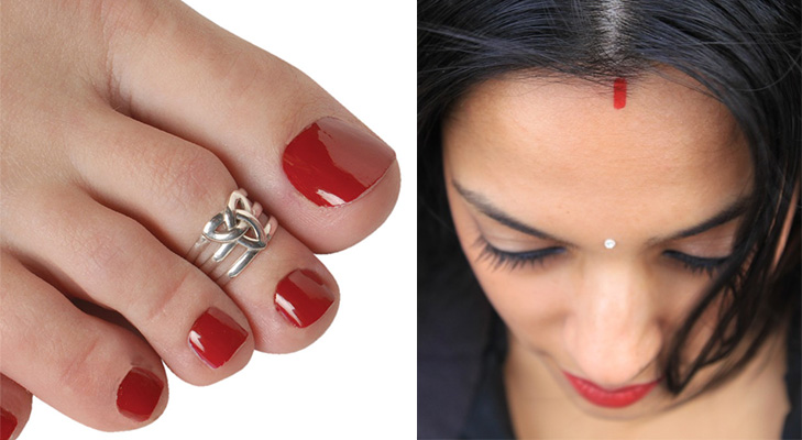 married women sindoor toe ring@TheRoyaleIndia