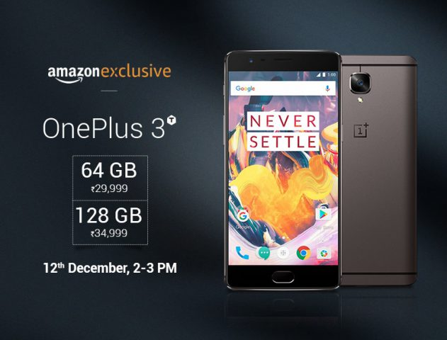 OnePlus 3T Exclusive Sale on Amazon @TheRoyaleIndia