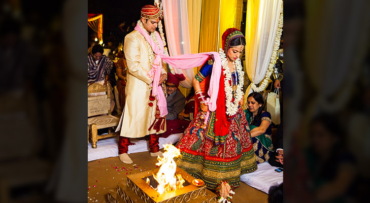 phere around fire during marriage @TheRoyaleIndia