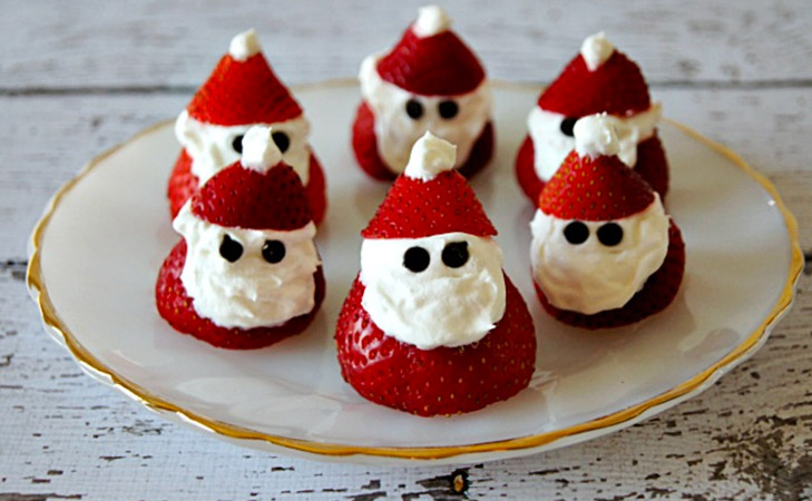 strawberry santa healthy christmas recipes @TheRoyaleIndia