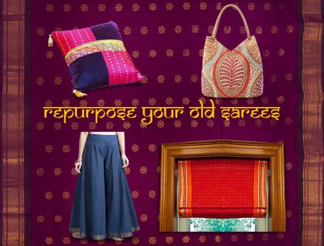 creative ways to repurpose sarees @TheRoyaleIndia