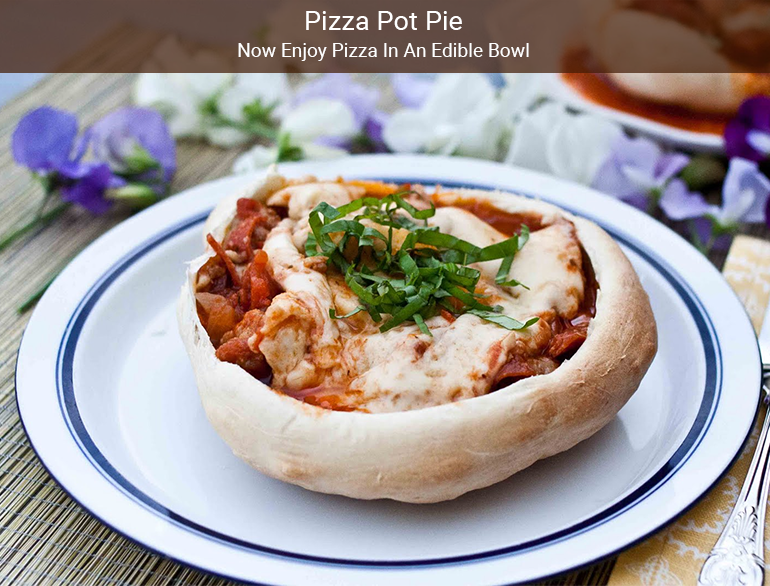 Pizza Pot Pie Recipe @TheRoyaleIndia