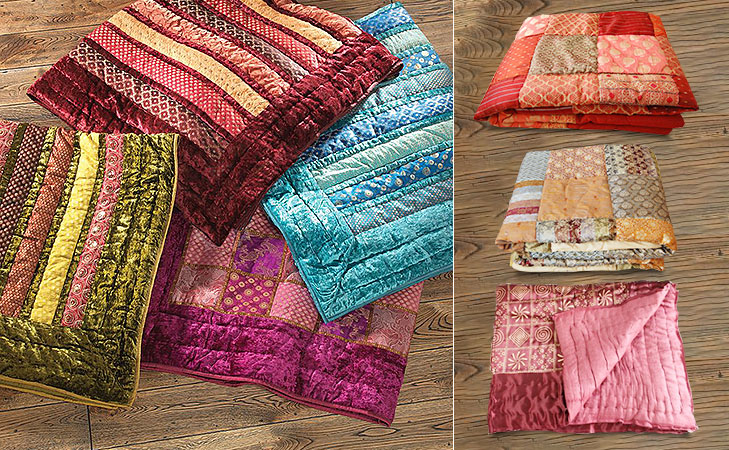 repurpose old sarees quilts @TheRoyaleIndia