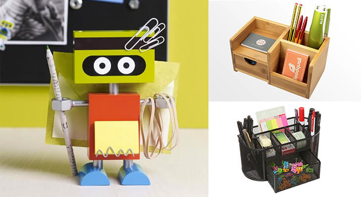 Tips to personalise office desk stationary organiser @TheRoyaleIndia