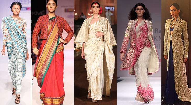 tips to stay warm winters saree with jacket @TheRoyaleIndia