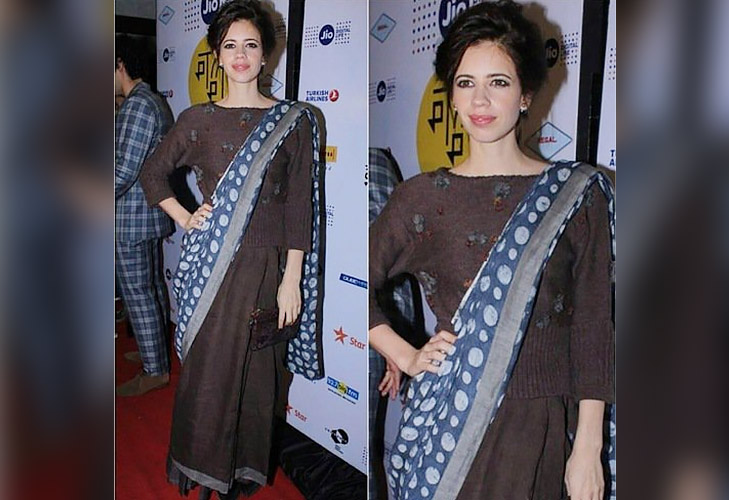 tips to stay warm winters saree with sweater @TheRoyaleIndia