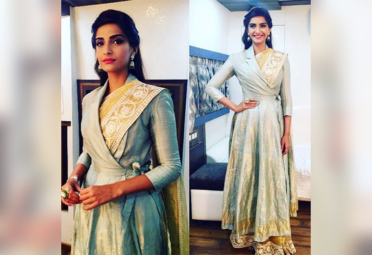 tips to stay warm winters trench coat with saree