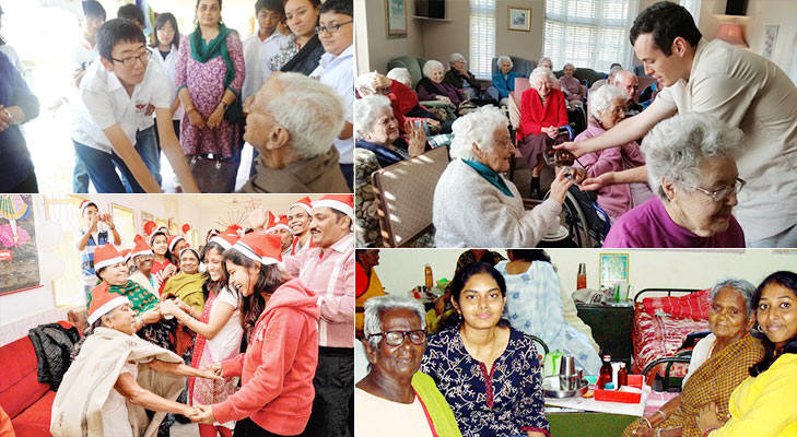 unconventional ways to celebrate new year visit old age home @TheRoyaleIndia