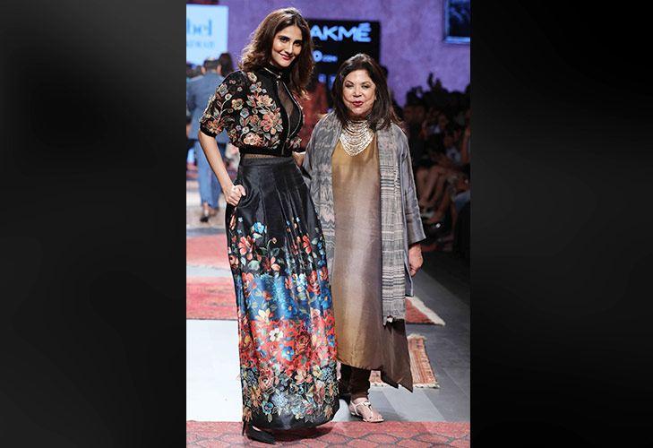 Actress Vaani Kapoor walks for Ritu Kumar at LFW SR 17 @TheRoyaleIndia