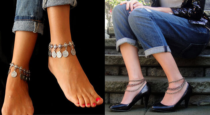 Anklets payal with western outfits @TheRoyaleIndia