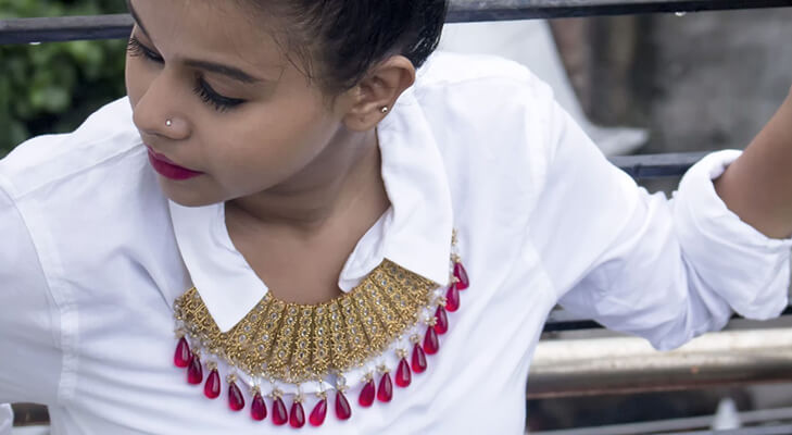 Ethnic jewellery with western outfits @TheRoyaleIndia