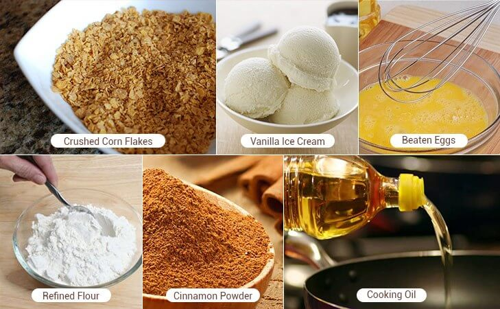 Fried ice cream recipe ingredients @TheRoyaleIndia