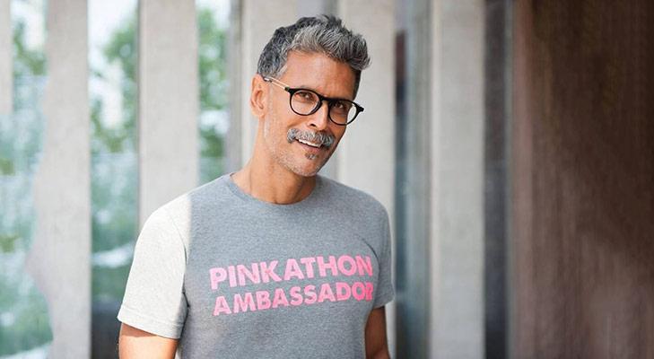 Milind Soman Pinkathon @TheRoyaleIndia