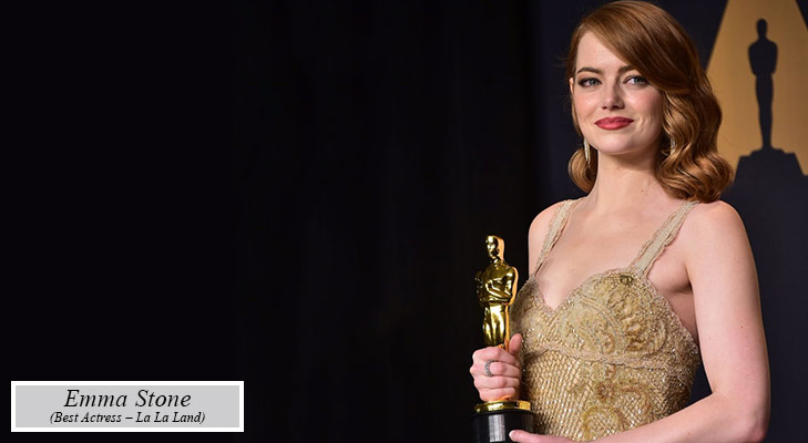 Oscars 2017 emma stone best actress la la land @TheRoyaleIndia