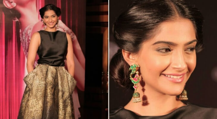 Sonam kapoor traditional earings with western outfits @TheRoyaleIndia