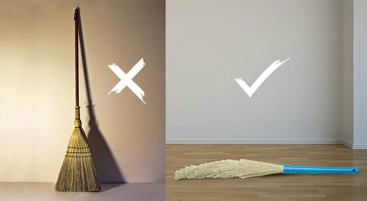 Vastu tips broom shoes mops @TheRoyaleIndia