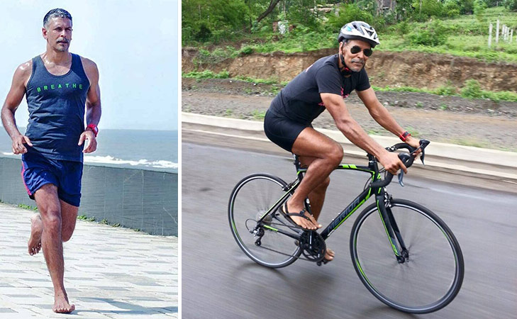 Bollywood fitness freaks on Instagram Milind Soman @TheRoyaleIndia