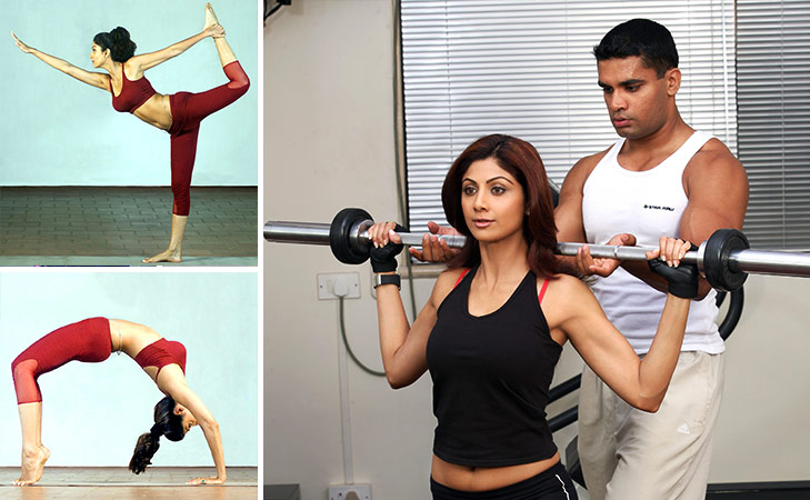 Bollywood fitness freaks on Instagram Shilpa Shetty @TheRoyaleIndia