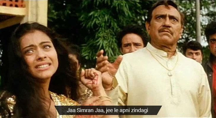 DDLJ Movie dialogues that teach life lessons simran jeele zindagi