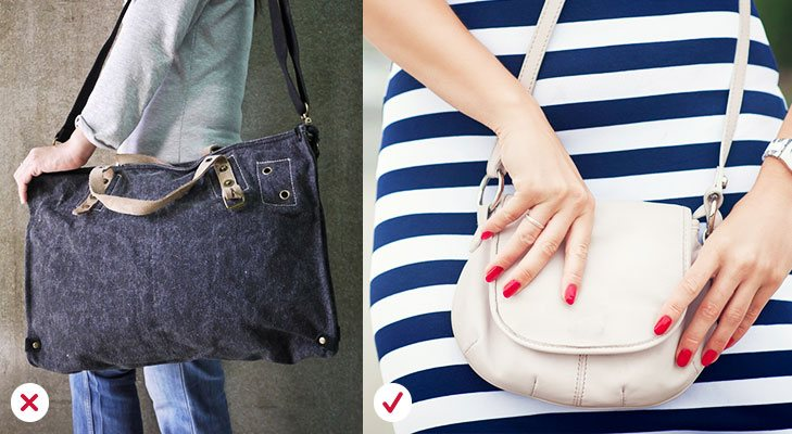 Fashion mistakes avoid big bags