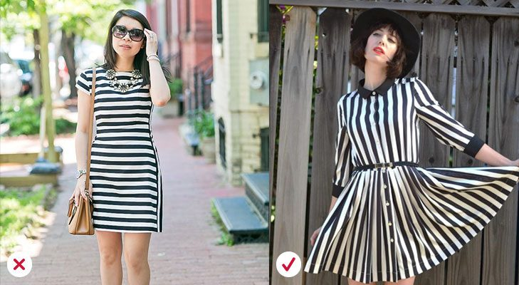 Fashion mistakes avoid horital stripes