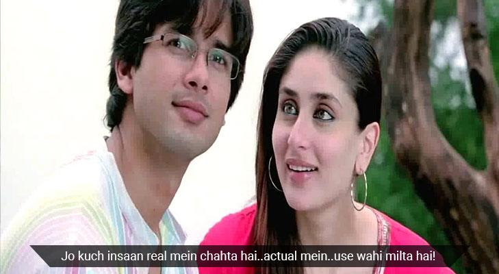 Movie dialogues that teach life lessons jab we met
