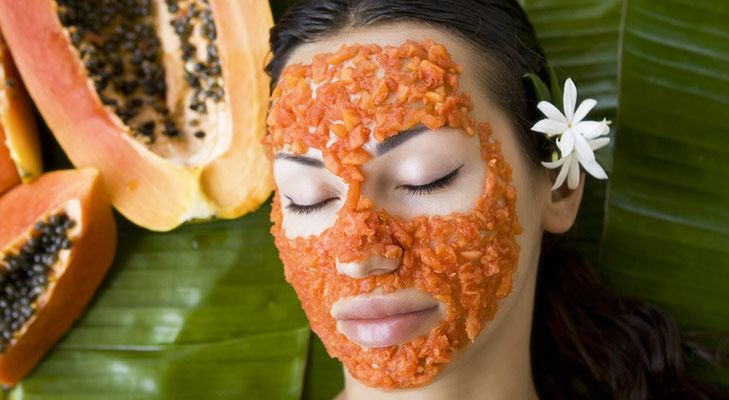 Tips to remove holi colour papaya face mask @TheRoyaleIndia