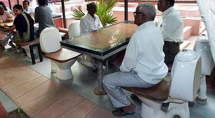 unusual restaurants india natures toilet cafe