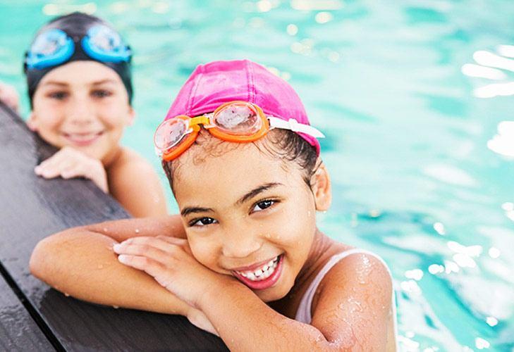 Swimming Essentials Caps & Goggles