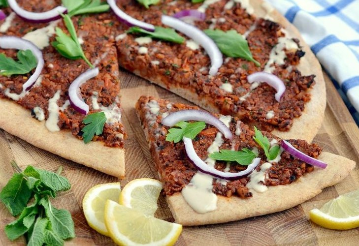 Lahmacun Pizza from Turkey