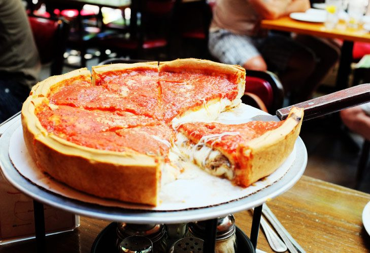 Deep Dish Pizza from Chicago, Illinois